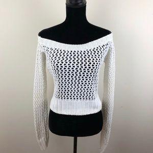 525 America open knit sweater